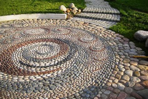 25 Unique Backyard Landscaping Ideas And Garden Path Pebble Rock Garden Designs