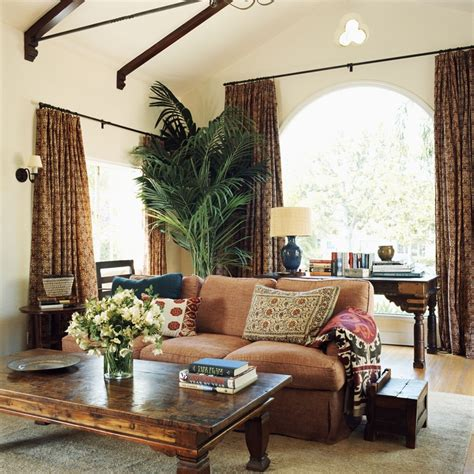 living room trees interior design by hackathorn living room curtains on windows palm tree plant