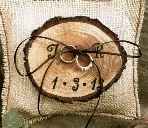 rustic wedding ring bearer pillow h