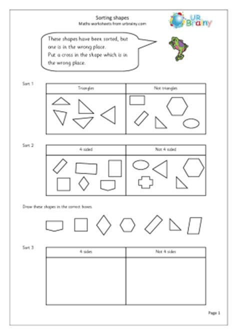 7 best images of shape sorting worksheets printable cut