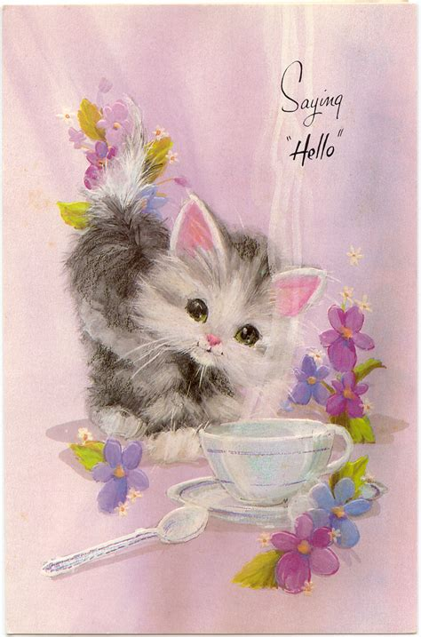 kitten cards marges8 s paper dolls greeting cards paper