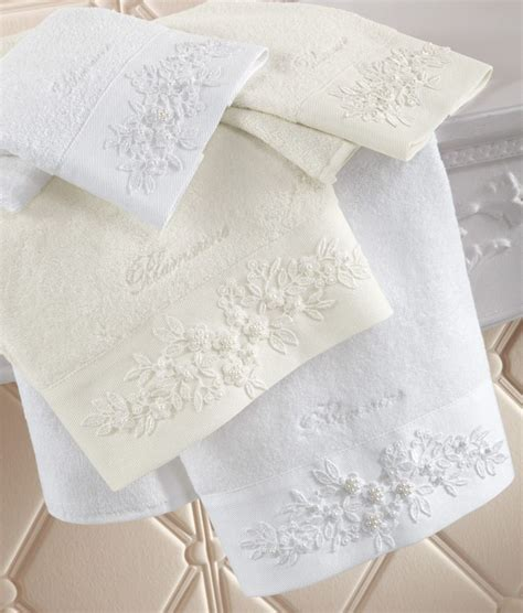 bathroom napkins blumarine home collection bath linens towels pinterest