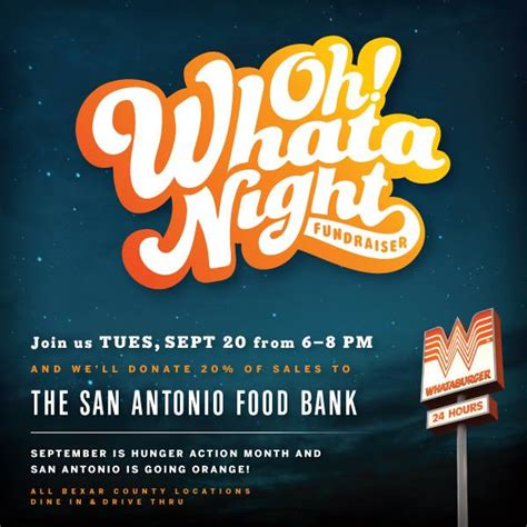 San Antonio Food Pantry by Whataburger Donating 20 Of Profits Made Tuesday To The