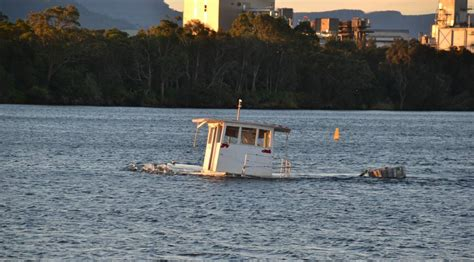 sunken river boats sunken boat in shoalhaven river to be removed in coming