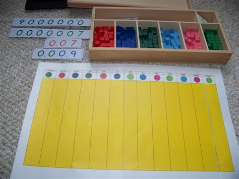 printable montessori checkerboard george family montessori at home montessori decimal