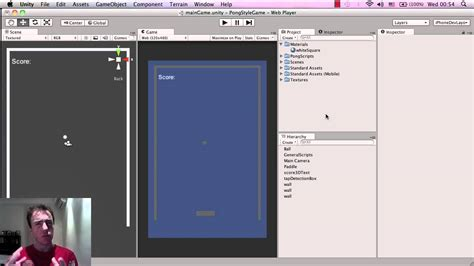 tutorial unity pong unity tutorial pong game how to make mobile games