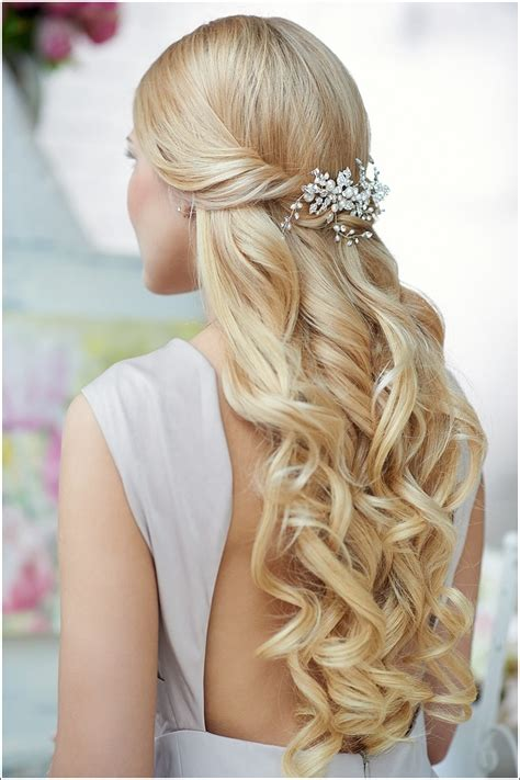 Half Up Wedding Hairstyles by Half Up Half Wedding Hairstyles Dipped In Lace