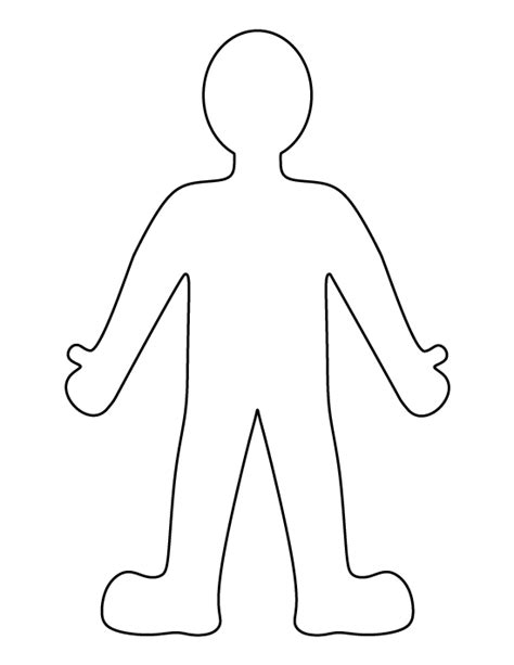 Printable Person Template Person Template For Kindergarten
