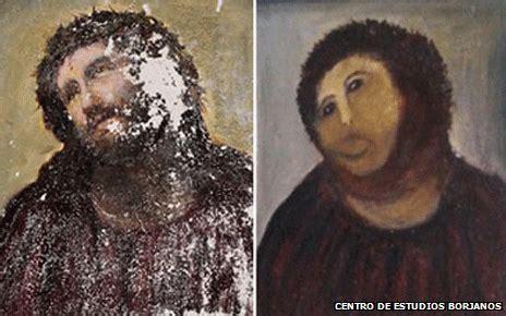 Jesus Fresco Meme - jesus fresco painting