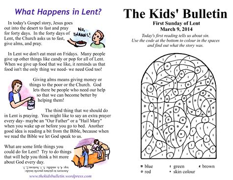 word made lent a scriptural encounter for ash wednesday through easter books the kids bulletin for sunday march 9th 2014 the