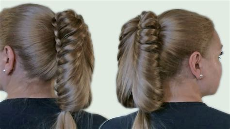 beautiful hairstyle with a ponytail for hair tutorial 2014 creative hairstyle