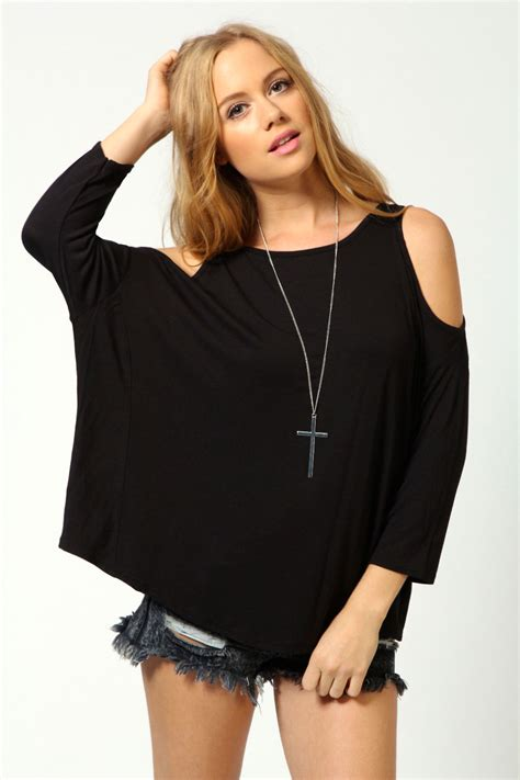 Top Kirana Blouse Out Cut boohoo womens cut out shoulder top ebay