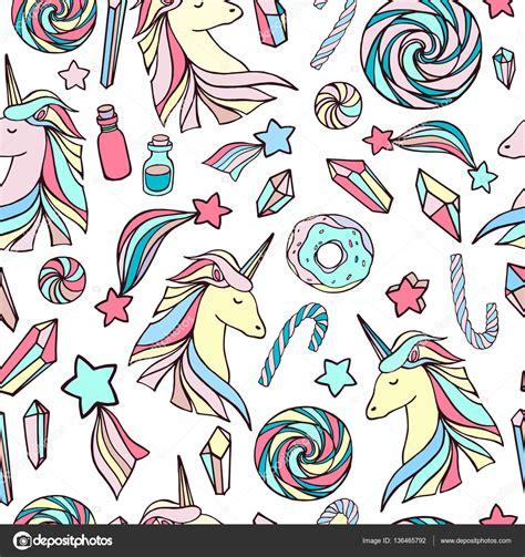 imagenes de unicornios fondos patr 243 n sin fisuras con unicornios fondo de dibujos