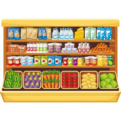 Shelf Foods by Grocery Store Clip Chadholtz