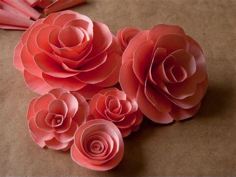 How To Make Paper Roses Easy Step By Step - best 25 easy paper flowers ideas on diy easy