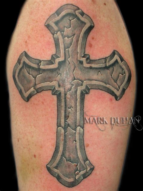 stone tattoos cross by amduhan on deviantart