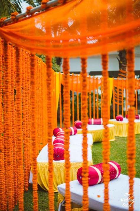 orange home decorations orange indian wedding indian weddings by soma sengupta