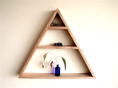 image gallery triangle shelf