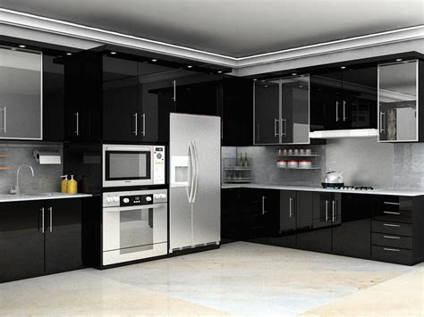 design kitchen set interior architecture minimalist modern interior