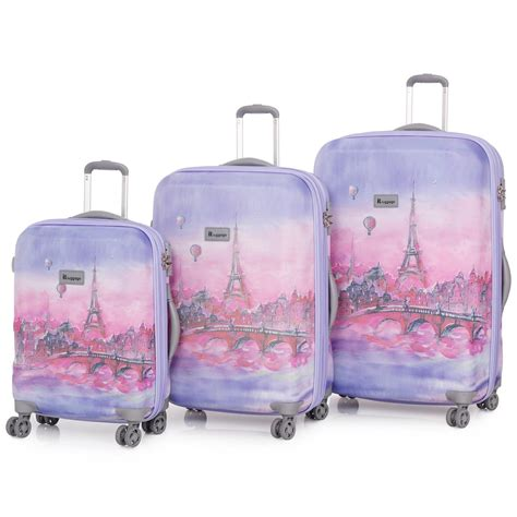 it lightweight cabin luggage it luggage balloons 3 trolley suitcase set travel