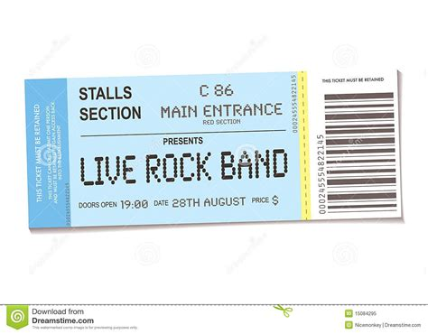 Ticket Place Card Template by Blank Concert Ticket Template Mughals