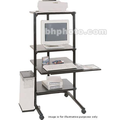 The Shelf Technology by Luxor 4 Shelf Hi Tech Computer Center Model Tl2458b Tl2458 B
