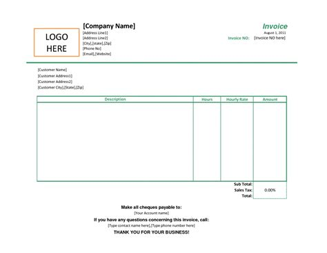 simple invoice quote free invoice template