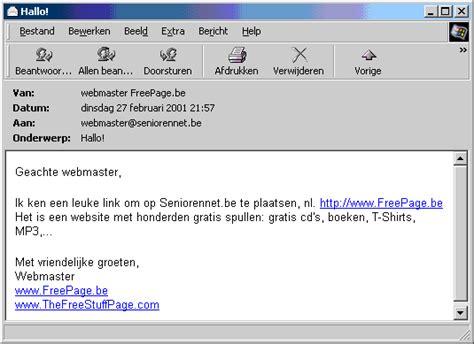 voorbeeld email seniorennet nl de startpagina voor nederlandse senioren de actieve 50 plussers