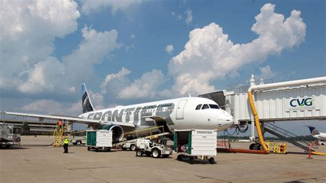 frontier sets sales record with new cincinnati flights