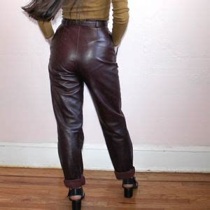 Kate Olsens Paperbag Waist Trousers From Asos by 86 Vintage Vtg 1970s Leather Paper Bag Waist