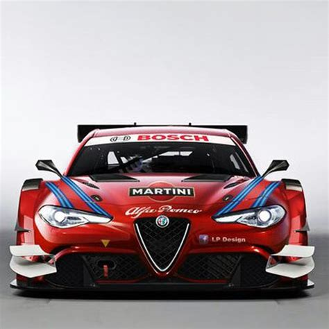 alfa romeo martini racing render of a hypothetical dtm car based on the giulia