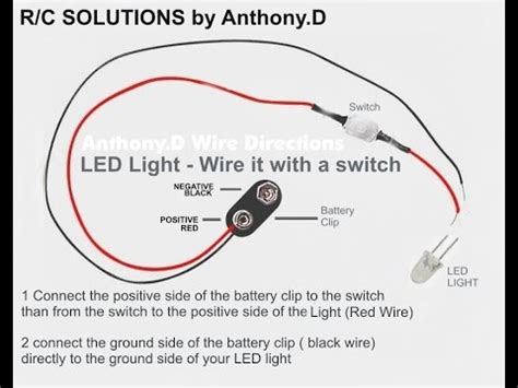 how to wire your axial scx10 led lights with a switch