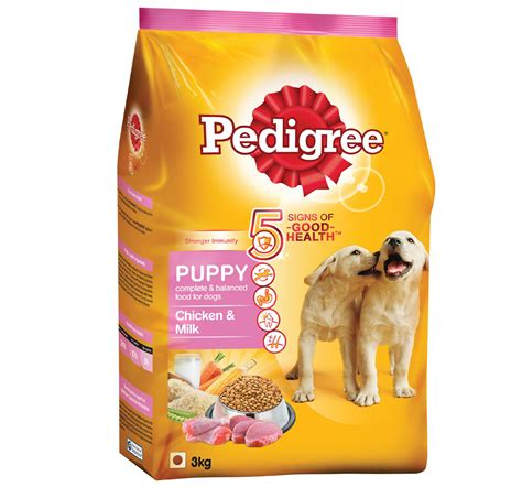 puppy food pedigree food puppy chicken milk 3 kg dogspot pet supply store
