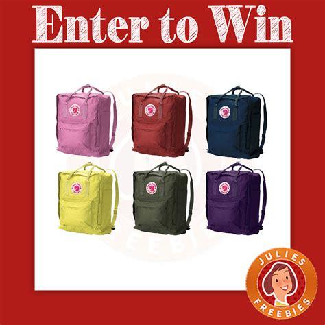 Fjallraven Giveaway - fjallraven bag a day giveaway julie s freebies
