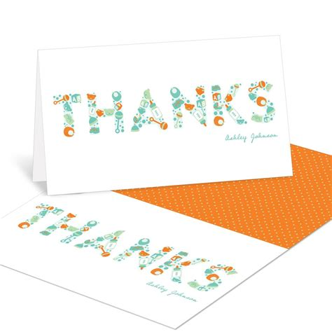 Essentials For Baby Shower by Essential Baby Items Baby Shower Thank You Cards Pear Tree