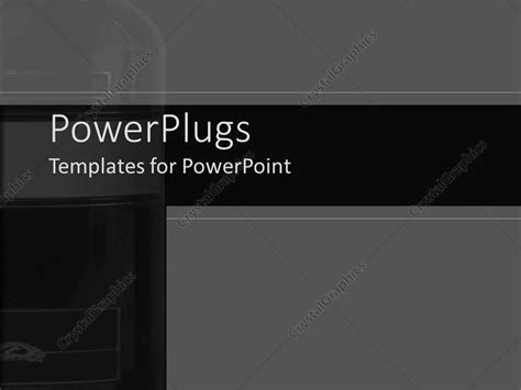 Powerpoint Template The Depiction Of A Wine Bottle S Structure With Black And Gray Background Sophisticated Powerpoint Templates