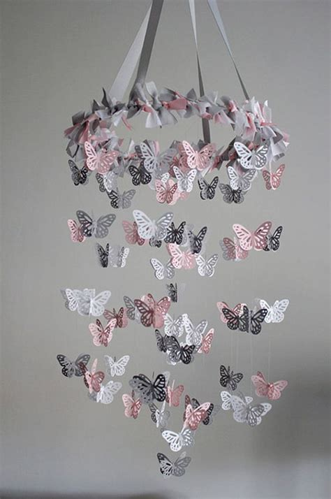 How To Make A Butterfly Chandelier Best 25 Butterfly Mobile Ideas On Diy Butterfly Origami Mobile And Chandelier With