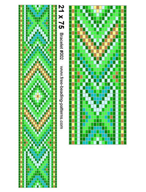 patterns for beaded bracelets on a loom images