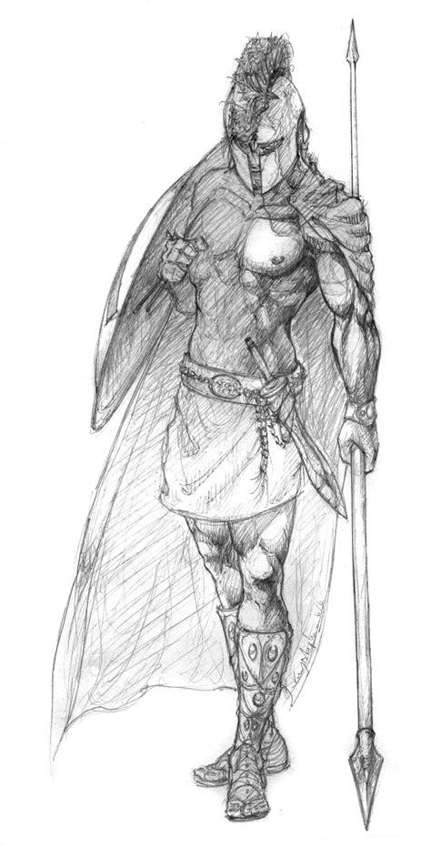 more decent spartan sketch by krysdecker on deviantart