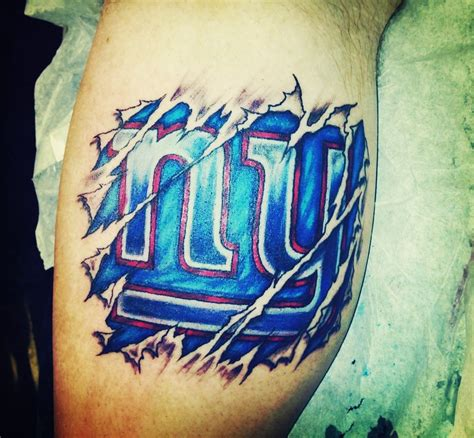 american football tattoo designs giants bleed blue