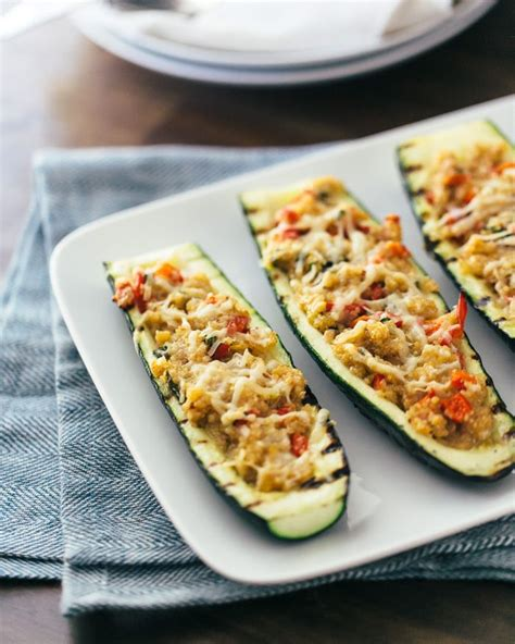 stuffed zucchini boats cooking light 25 best ideas about grilled zucchini boats on pinterest