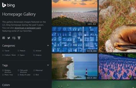 image gallery website homepage microsoft launches bing homepage gallery access images