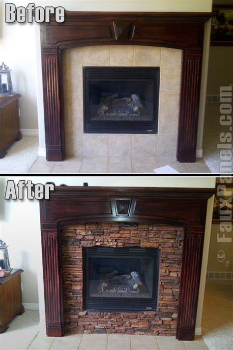 easy faux fireplace remodeling creative faux panels