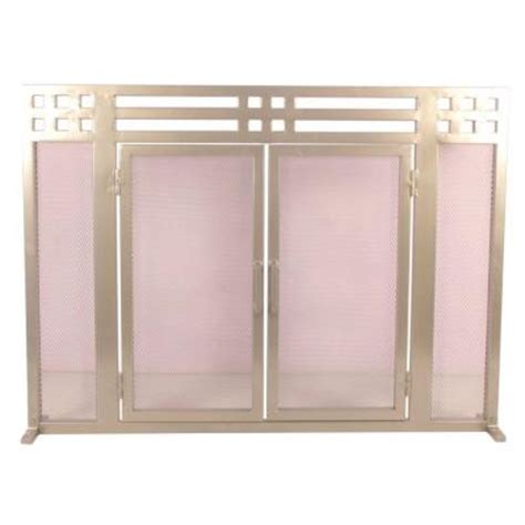 layton nickel single panel fireplace screen ds 21137 the