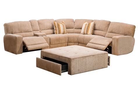 sectional reclining ballard 4 piece power reclining sectional at gardner white