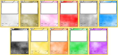 Pokemon Blank Card Templates By Levelinfinitum On Deviantart Cards Template