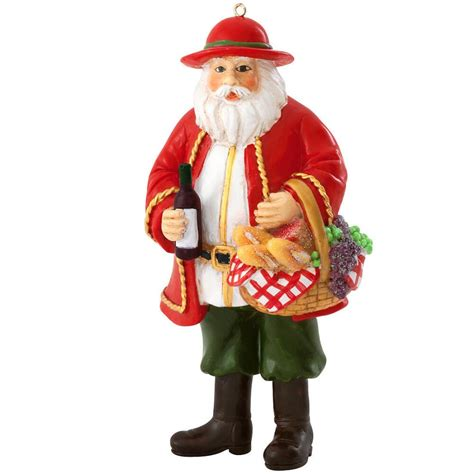 italian ornament italian santa with wine ornament bronner s