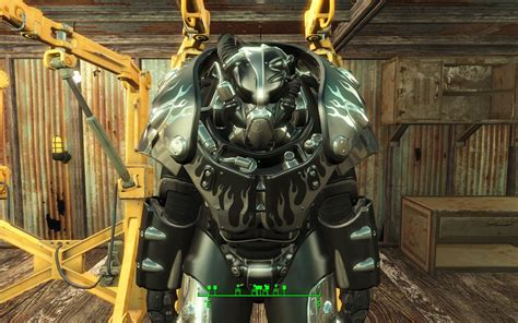 worsins black with chrome flames power armor promo fallout 4 mod fo4