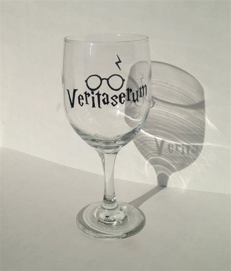 potters glass harry potter veritaserum painted wine glass 15 00 on