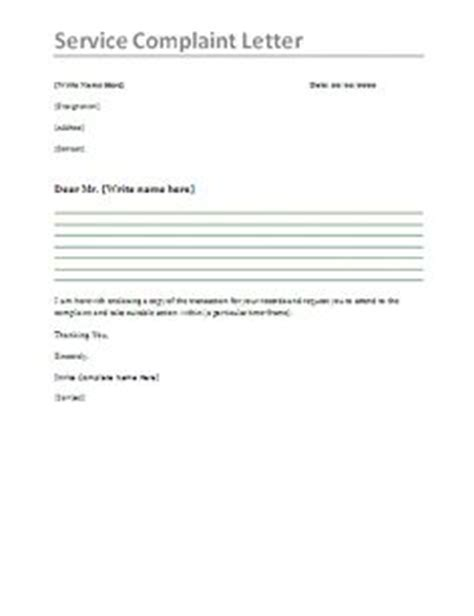 Complaint Letter About Bad Service With Exle Customer Complaint Response Letter Template Letter Sle Template And An